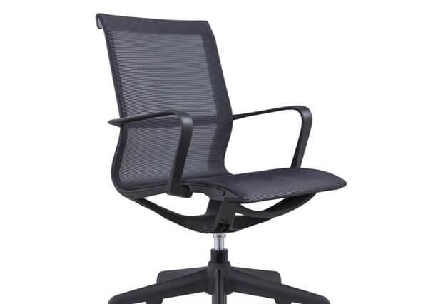 Black bute chair